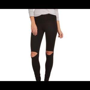 Say Anything Black Cutout Leggings
